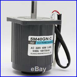 1Phase AC220V 40W 1400rpm Adjustable Speed Induction Motor with Speed Controller