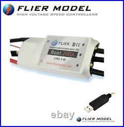 200A Boat ESC 3-12S LiPo Flier for Brushless Motors + USB LINK