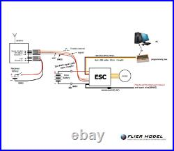 240A Boat ESC 3-12S LiPo Flier for Brushless Motors + USB LINK