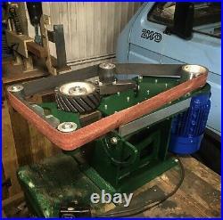 2x72 belt grinder, Tilting base, Speed Control, 3000RPM 2HP motor, Warranty