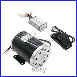 36V 1000W DC Electric Motor Kit with Base Speed Controller&Foot Pedal Throttle SK