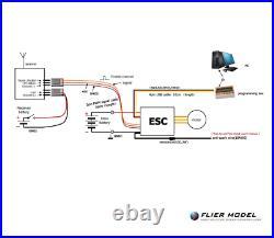 400A Air ESC 3-12S LiPo 50V Flier for Brushless Motors Airplane + USB LINK