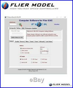 400A ESC AIR 16S LiPo Flier + USB LINK for Brushless Motor airplane heli