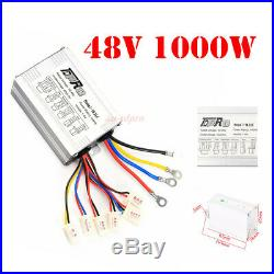 48V 1000W New Speed Brush Controller Box Plug For Scooter E-bike Electric Motor