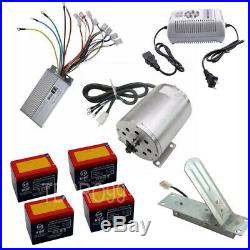 48V 1800w Brushless Motor Speed Controller Foot Pedal with 4x 12v 12ah Batteries