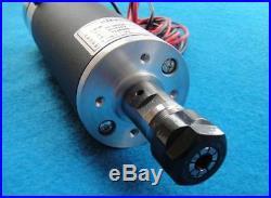 600W ER16 13200rpm Air cooled Brushed Spindle Motor DC24-110V 600mN 57mm 3.175mm