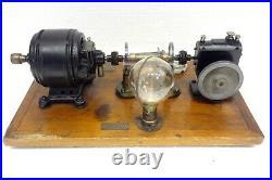 Antique 1918 Rare Boulitte Paris French Electric Motor Centrifugal Speed Control