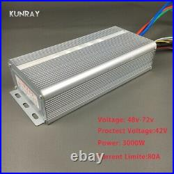 BLDC 42V 72V 3000W Brushless Motor Speed Controller 80A 24 Mosfet