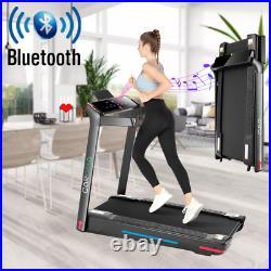 CAROMA 1-12km/h Folding Motorized Treadmill Walking Machine with Remote Control
