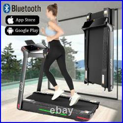 CAROMA 1-12km/h Folding Motorized Treadmill Walking Machine with Remote Control UK