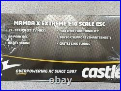 Castle Creations Mamba X 1/10 Brushless Combo with1406 Sensored Motor 4600kV New