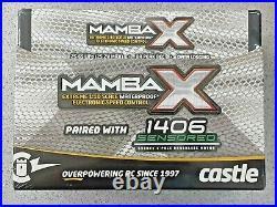 Castle Creations Mamba X 1/10 Brushless Combo with1406 Sensored Motor 6900kV New