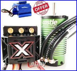 Castle Creations Monster X 25.2V ESC 1512-2650kV Motor Combo withCooling Fan Blue