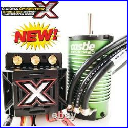 Castle Creations Monster X 25.2V ESC 1515-2200kV Motor Combo w Cooling fan Blue