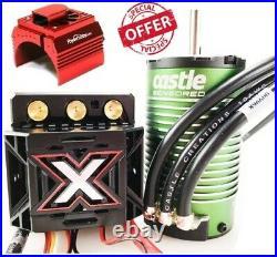 Castle Creations Monster X 25.2V ESC / 1515-2200kV Motor Combo w Cooling fan Red