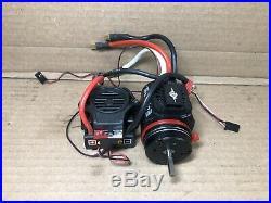 Castle Mamba Monster Esc W 2200Kv Motor & Castle Fan System Off Emaxx 3908 #3921