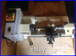 EMCO UNIMAT 3 lathe & accessories fitted with DC motor & speed controller