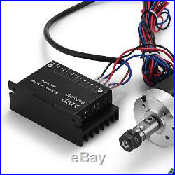 ER11 Brushless Spindle Motor 400W CNC Engraving Driver + 600W Speed Controller