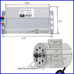 Electric Brushless DC Motor Kit, 48V 1800W 4500RPM High Speed Motor Controller
