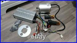 Electric Motor 72V 3000W, Brushless DC Motor Controller 48V 72V 50A Kit