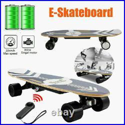 Electric Skateboard Longboard Top Speed 20KM/H Kids withRemote Control 350W Motor