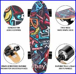 Electric Skateboard, Remote Control, 350W Motor, 20KM/H, 3Speed Modes, 25.4 UK