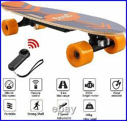 Electric Skateboard, Wireless Remote Control, 20 KM/H, 350W Motor, 3-Speed Modes