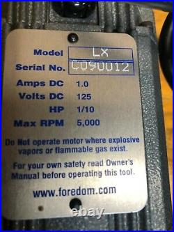 Foredom LX Hang-Up Motor with TXR-1 Plastic Foot Pedal Speed Control