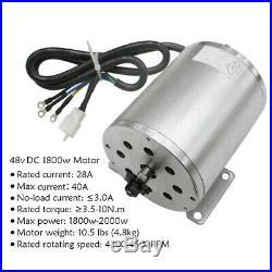 Full Set Brushless 48v 1800w Electric Motor Controller Reverse 3 Speed Go Kart