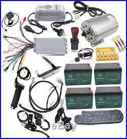 Full Set of 48V 1800W Brushless Electric Motor Speed Controller Battery Reverse
