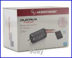 HWA30120401 Hobbywing QuicRun Fusion FOC 2-in-1 ESC & Motor System (1800Kv)