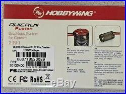 Hobbywing QuicRun Fusion FOC 2-in-1 ESC & Motor System (1200Kv) 30120400 New