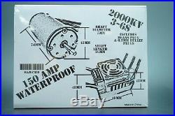 Hobbyworks Power Unit 1/8th Scale RC 2000KV Motor And 150 Amp ESC Combo OZRC JL