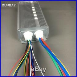 KUNRAY BLDC 42V 72V 3000W Brushless Motor Speed Controller 80A 24