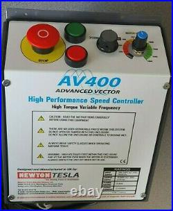 New design! AV400 Lathe speed controller and 1/2hp motor suits Myford ML10