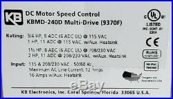 Nib Kb Electronics Kbmd-240d DC Motor Speed Control (9370f)