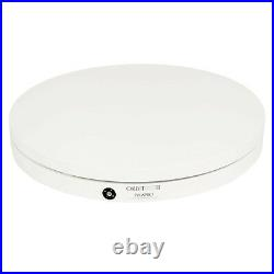 Photography Adjustable Triple-Speed White Motorised Turntable and Remote Control