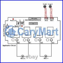 RF Wireless Remote Radio Motor Controller Speed adjustable Forward Reverse 12VDC