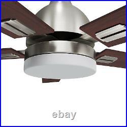 Retro 52'' Ceiling Fan Light Remote Control 5pc Blades & Mute Motor 3 Speeds