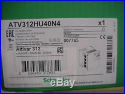 Schneider Altivar VFD motor speed control 5HP 380-500vac 3ph ATV312HU40N4