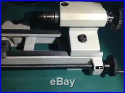 Unimat 3 Lathe Emco with Rejon type 200watt DC MOTOR & SPEED CONTROLLER + 4 JAW